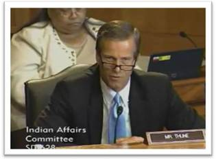 Senator Thune at Indian Affairs Hearing