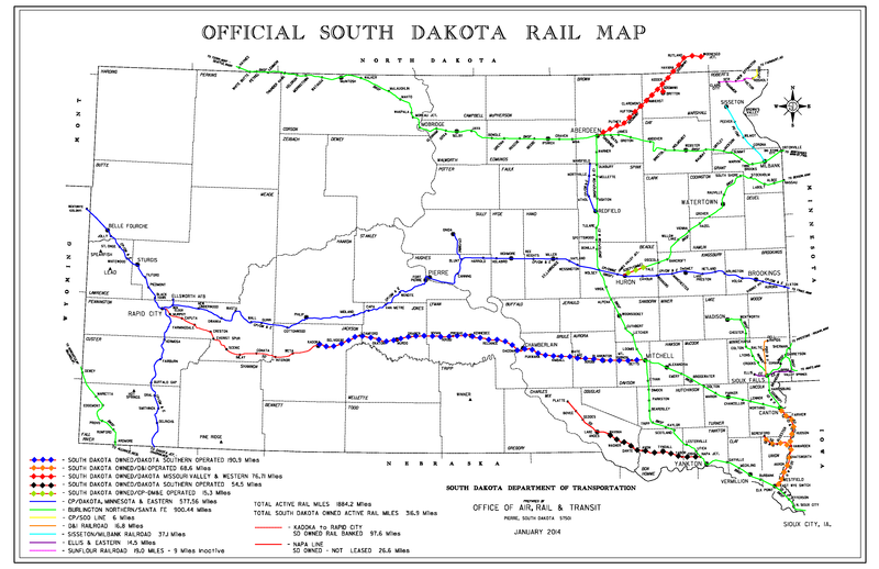 SD Rail Map
