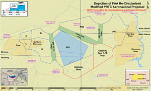 Ellsworth Air Force Base Proposed Airspace Expansion Map (Click to enlarge)